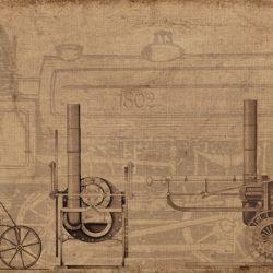 La primera locomotora del mundo logró remolcar 5 vagones con 10 toneladas de hierro y 70 hombres a bordo.