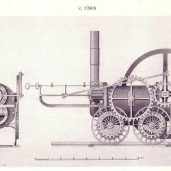 La revolucionaria locomotora contaba con un solo cilindro.