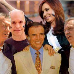 Mauricio Macri - Horacio Rodríguez Larreta - Carlos Menem - Cristina Kirchner - Alberto Fernández | Foto:Montaje