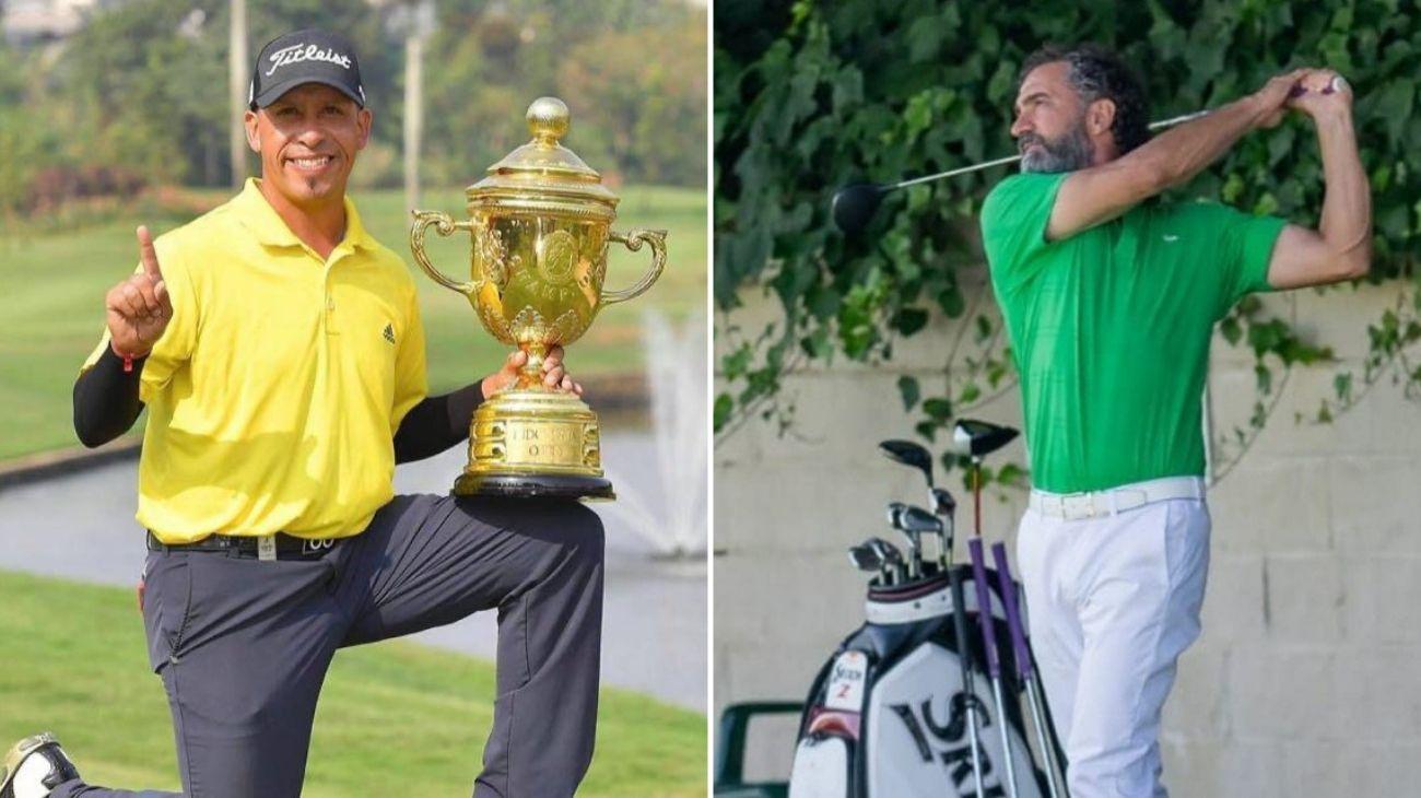 Profesionales de Golf Miguel Carballo y Cristian Iglesias.