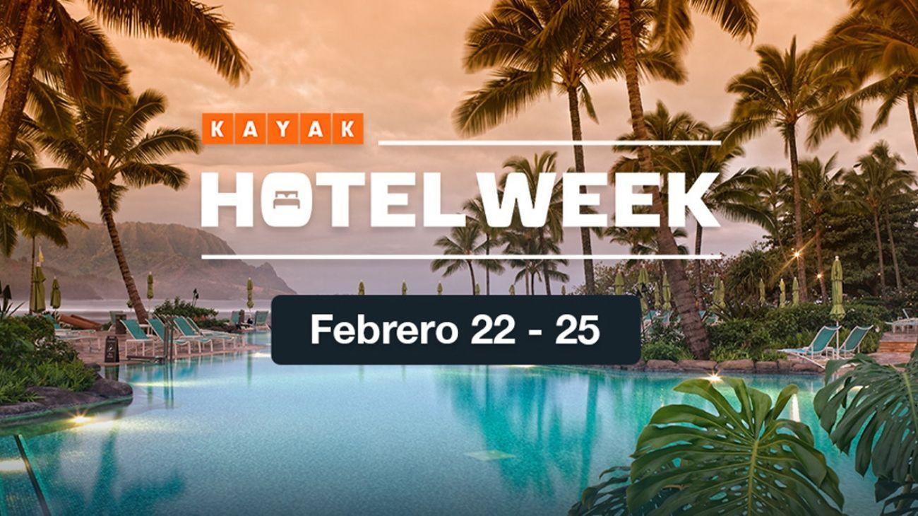 Durante 4 días, los viajeros podrán acceder al Hotel Week de KAYAK.