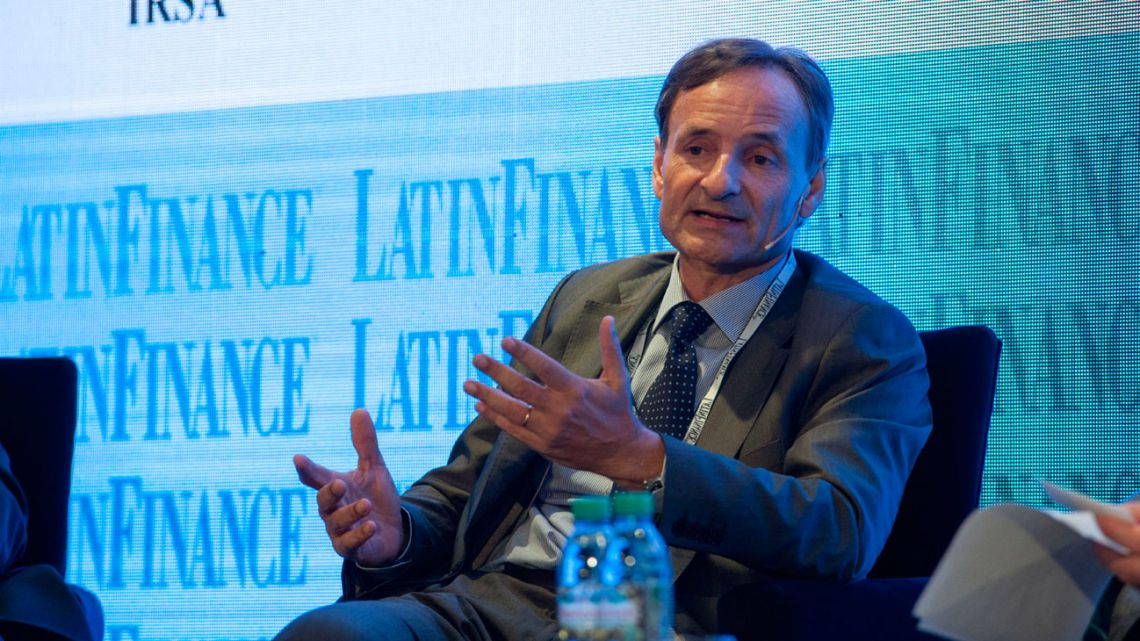 Fabian Kon, chief executive officer of Banco de Galicia y Buenos Aires SA, speaks during the LatinFinance Argentina Financial Summit in Buenos Aires, on Thursday, May 11, 2017.
