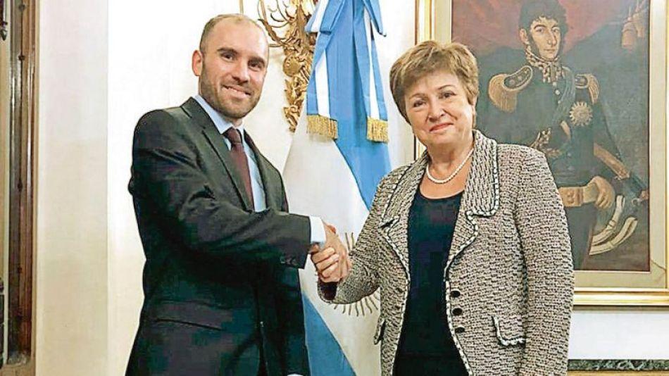 El ministro de Economía y la directora del FMI