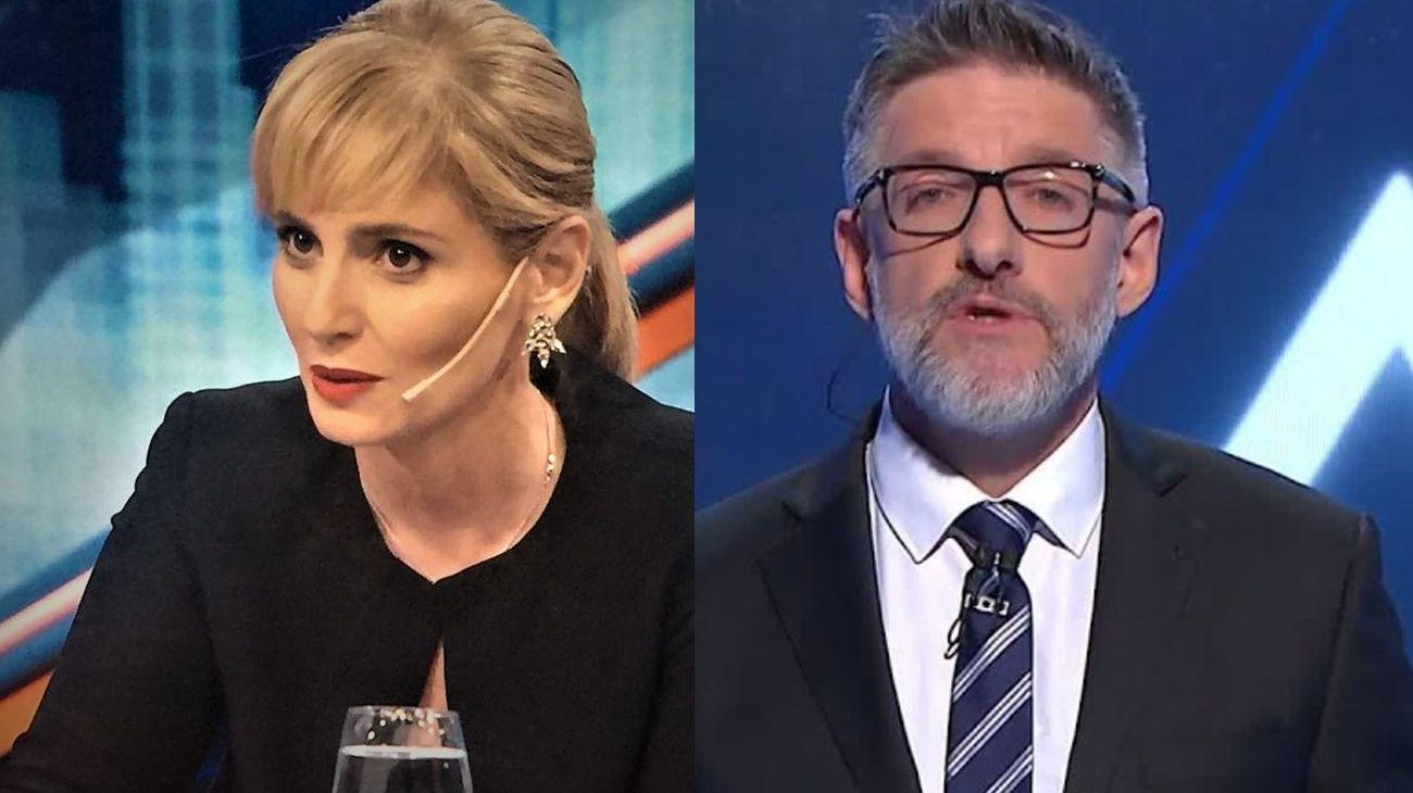 Romina Manguel y Luis Novaresio