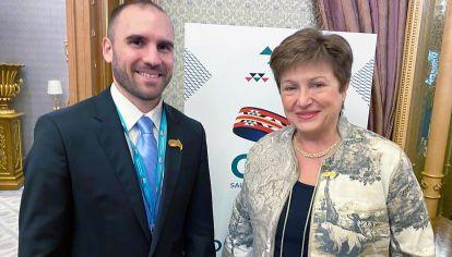 Martín Guzmán y Kristalina Georgieva se reunieron hoy en Washington.