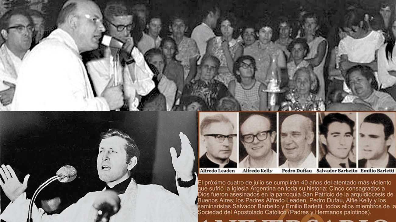 Casos. Monseñor Enrique Angelelli, el padre Carlos Mugica, los sacerdotes y seminaristas de la parroquia de San Patricio y las monjas francesas Alice y Léonie.