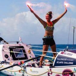 Jasmine navegó durante 70 días, 3 horas y 48 minutos por el océano Atlántico.