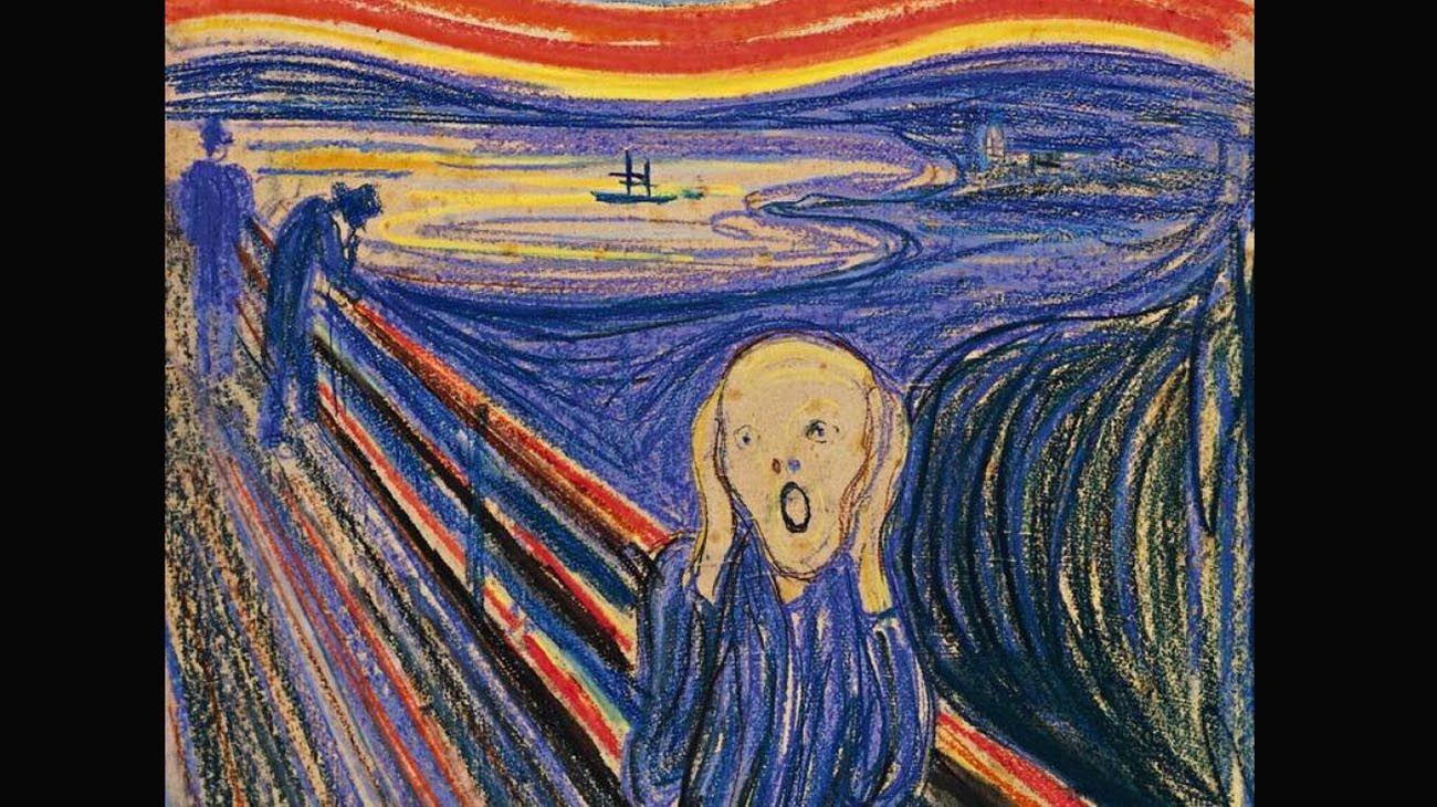 """Se resolvió el misterio de la frase oculta en el cuadro """"El grito"""", de Munch"""