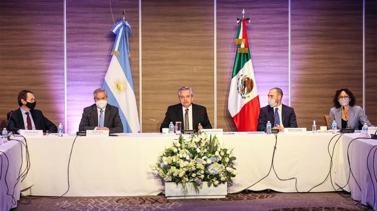 El Presidente reunido con empresarios mexicanos que tienen inversiones en Argentina