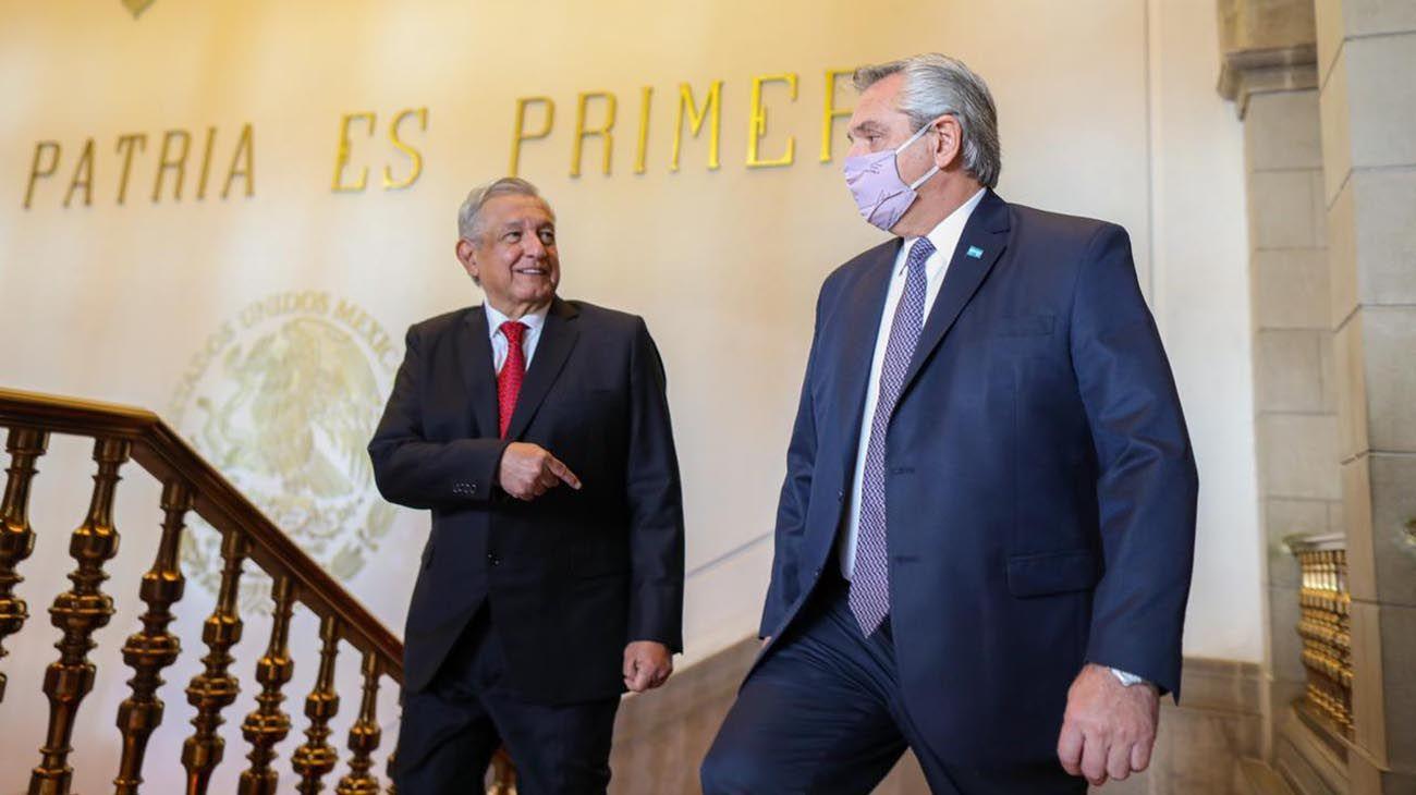 Alberto Fernández en México.