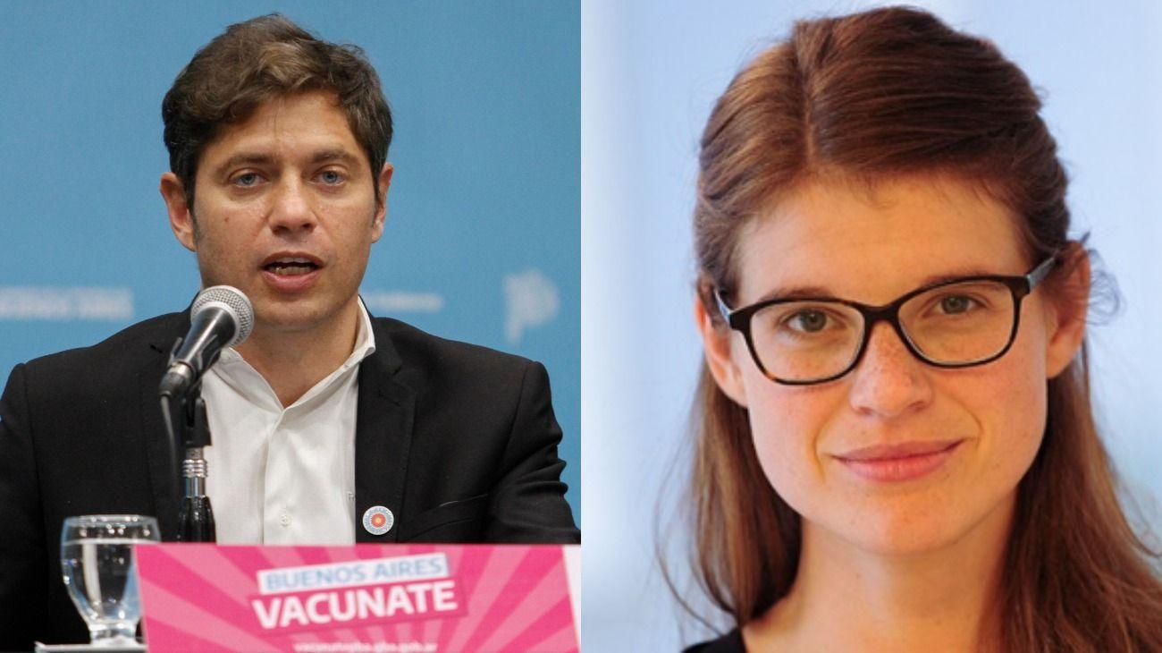 Axel Kicillof desmintió a Delfina Rossi por la vacunación al personal de salud bonaerense.