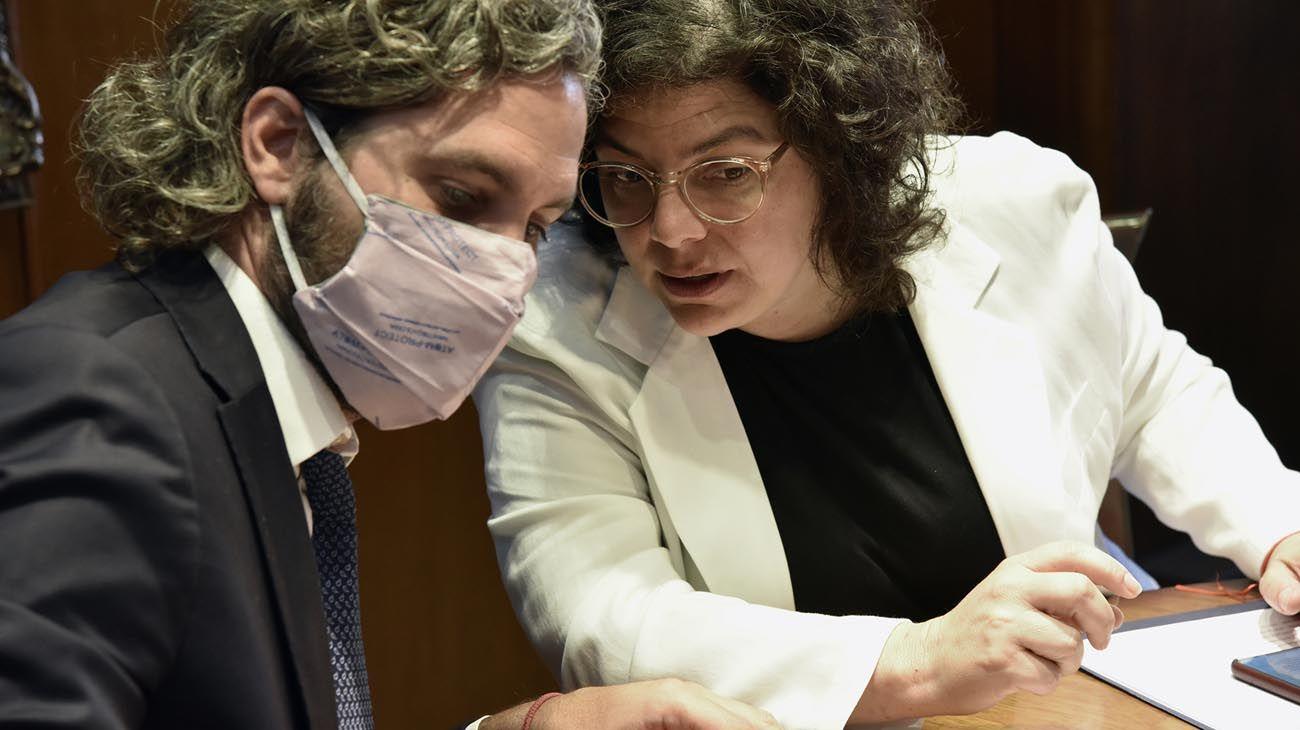Carla Vizzoti y Santiago Cafiero