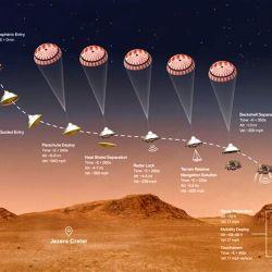 Todo el proceso se divide en siete fases que el rover realizó de forma autónoma.