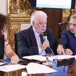 Alberto Fernández, Ginés González García y Carla Vizotti | Foto:Cedoc