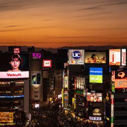 Una vista general muestra el distrito de Shibuya en Tokio. | Foto:AFP