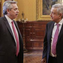 Los presidentes Manuel López Obrador y Alberto Fernández