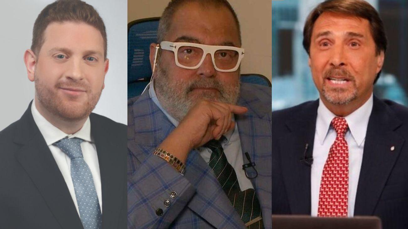 Jonatan Viale, Jorge Lanata y Eduardo Feinmann