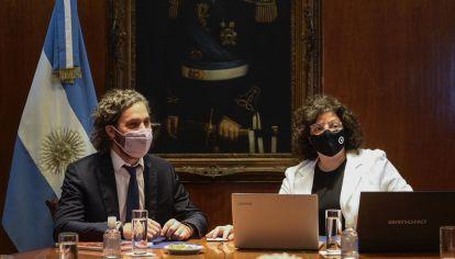 Santiago Cafiero y Carla Vizzotti se reunieron para ajustar detalles del plan de vacunación