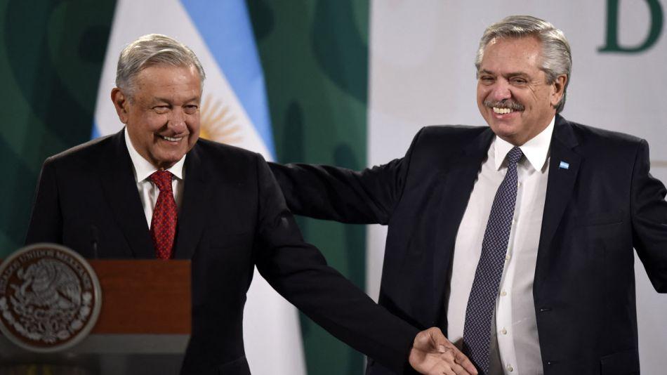 Conferencia de prensa  Alberto Fernández Andrés Manuel López Obrador  Agencias 20210223