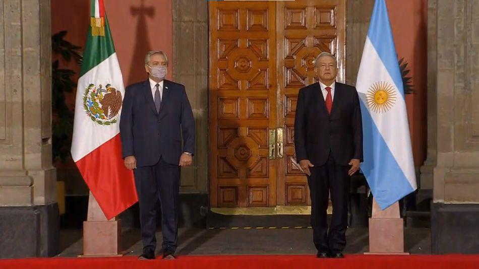 Llegada del presidente Alberto Fernández al Palacio Nacional 20210223