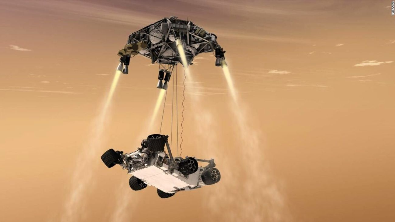 Video: así aterrizó el rover Perseverance en Marte