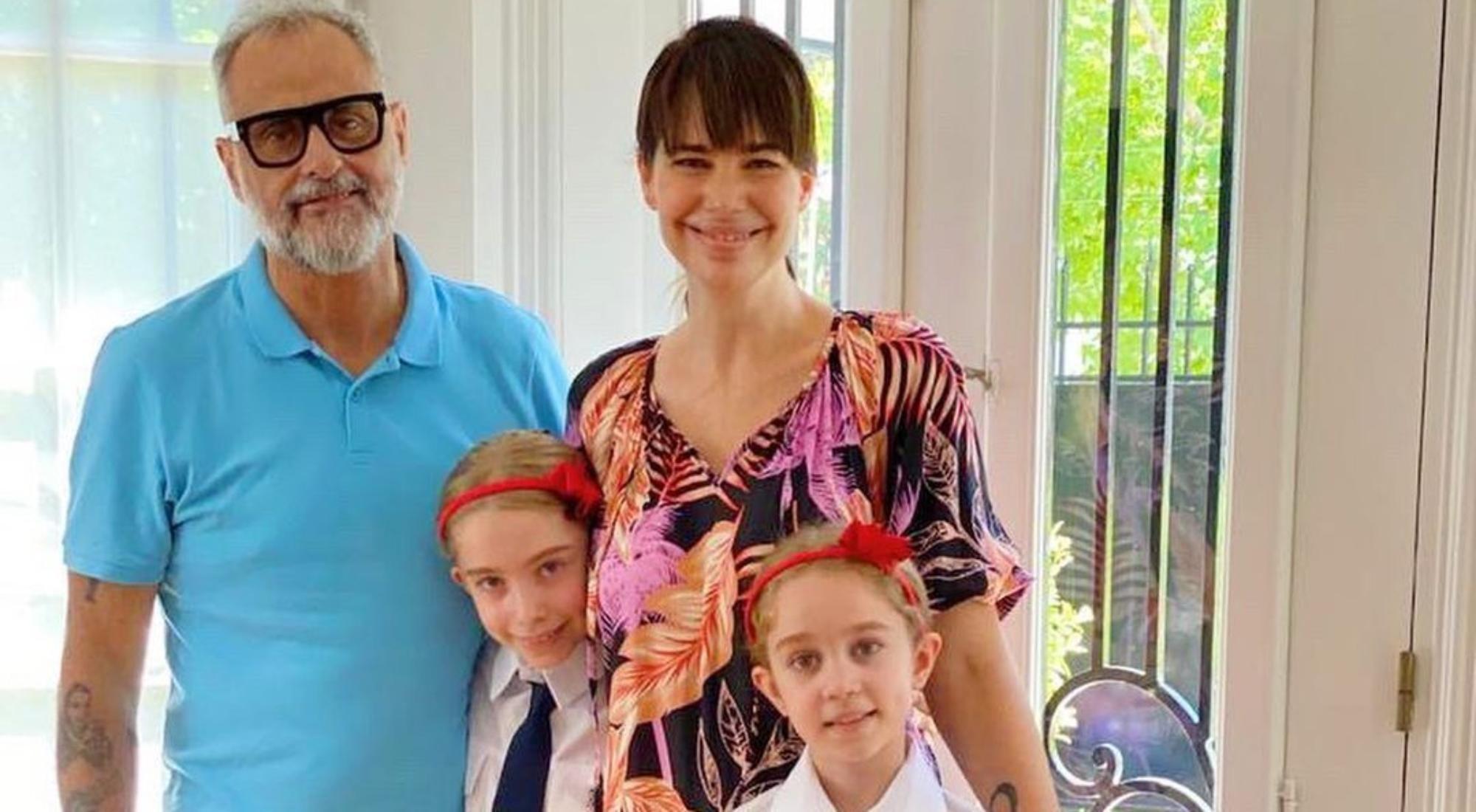 La emoción de Romina Pereiro por el comienzo de clases de sus hijas