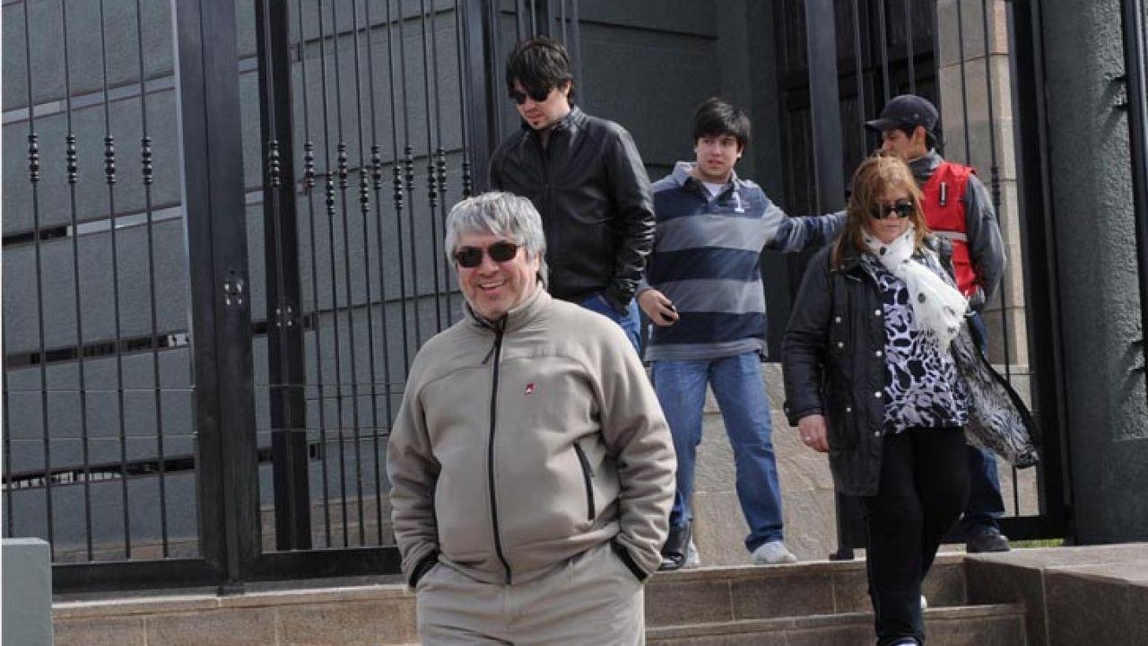 Lázaro Báez y su familia | Foto:cedoc