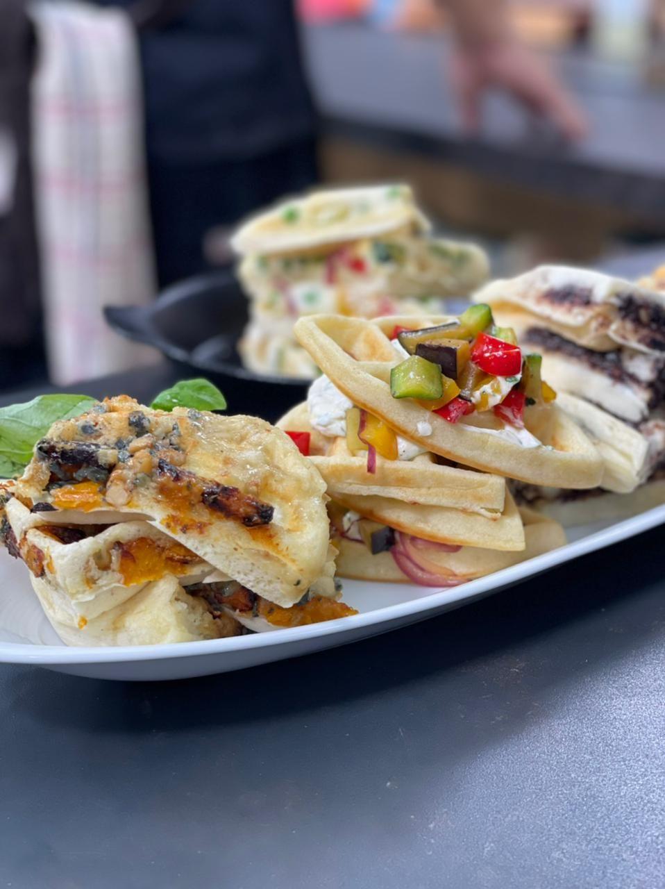 ¡Waffles salados y otros manjares!