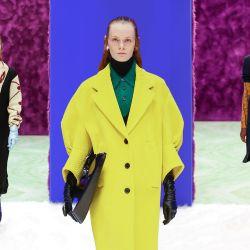 La propuesta de Prada se destacó por su sutil y a la vez diversa extravagancia.