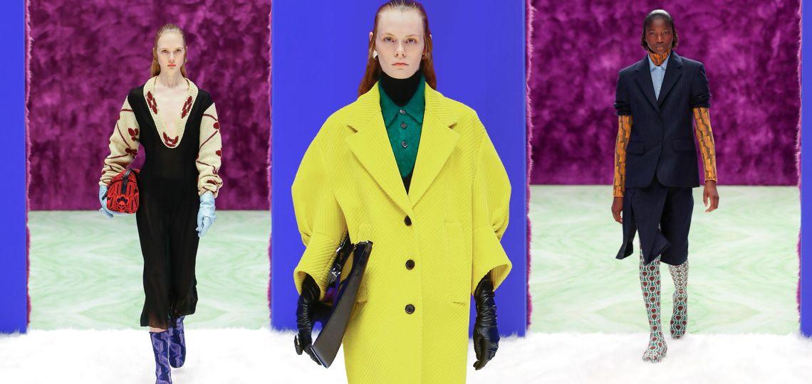 Prada sorprendió con su nueva colección de invierno en Milán