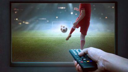 Televisación de futbol en la TV Pública.
