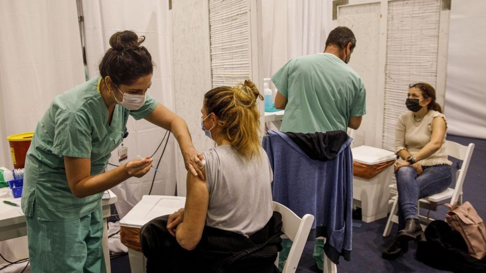 Vaccination Center as Israel Forges Nationwide Covid Effort