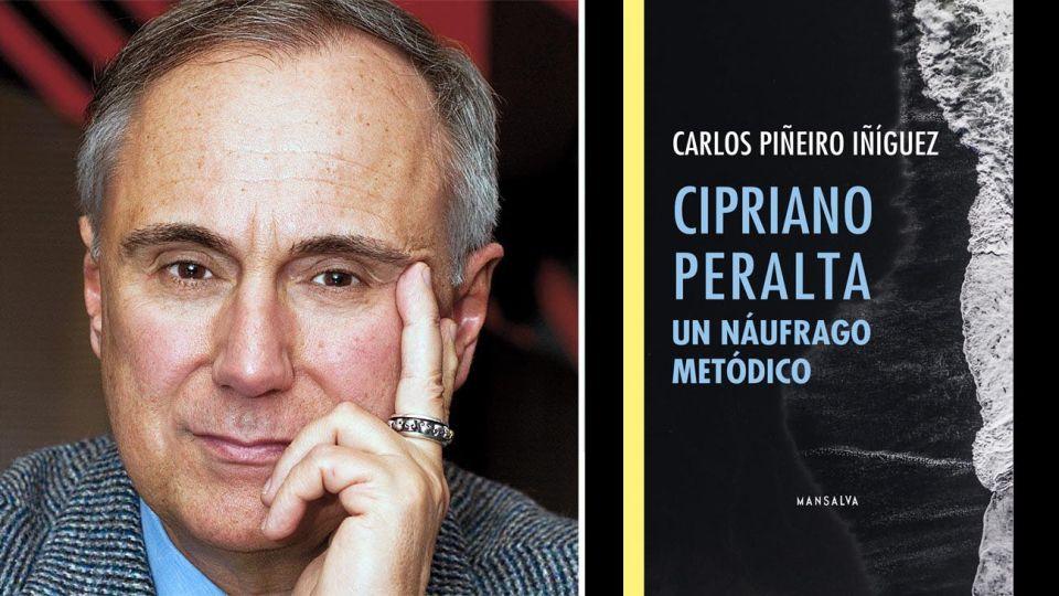 Carlos Piñeiro Iñiguez y tapa de su libro Cipriano Peralta 2010225