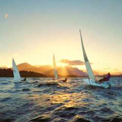 La regata se pondrá en marcha a partir de las 18 horas de hoy desde el Club Náutico de Bariloche.