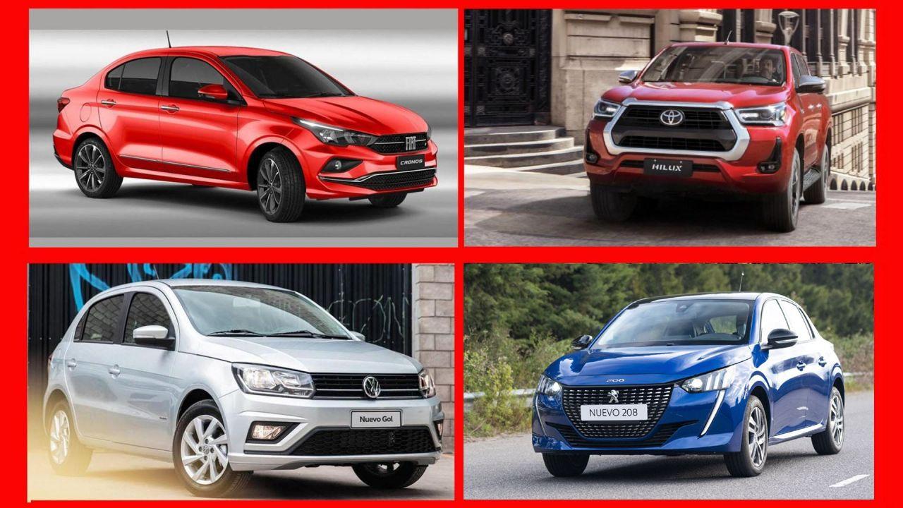 Cuatro de los autos más vendidos en febrero
