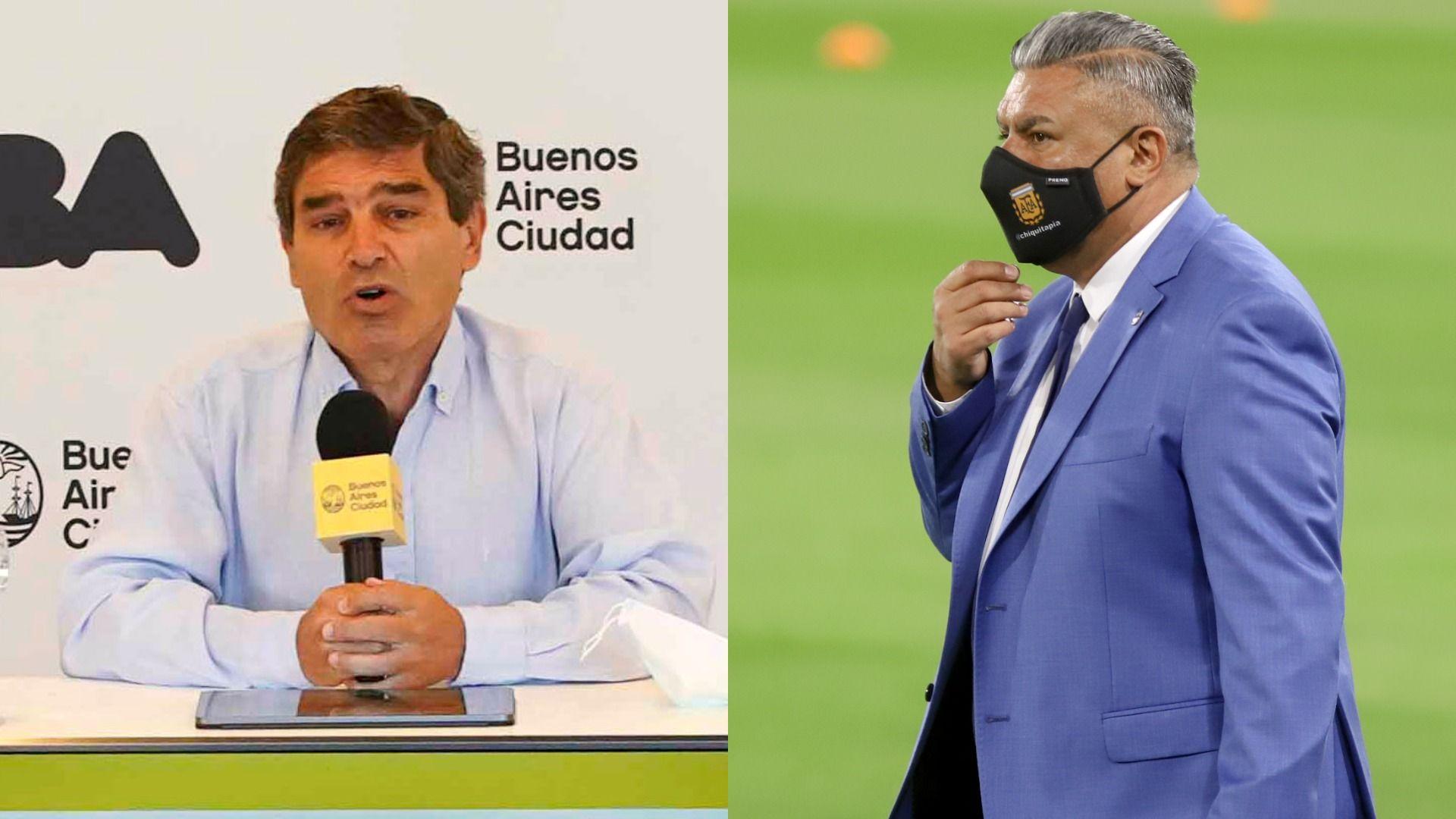 Fernán Quirós, ministro de Salud porteño, se refirió a la vuelta de los hinchas a los estadios de fútbol. // NA