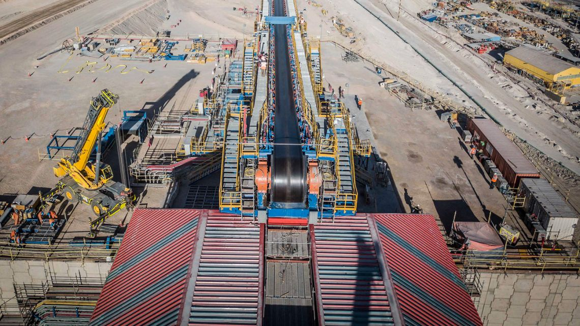 """Handout file photo taken on June 24, 2019 and released by the National Copper Corporation of Chile (CODELCO) showing the construction of the underground operations of the Chuquicamata mine in Calama, Chile. The price of copper doubled on February, 2021 compared to March, 2020 and reached its highest price in a decade due to China's purchases, a situation which opens a """"unique"""" opportunity for the economy of Chile, the main producer of the mineral, experts pointed out to AFP."""