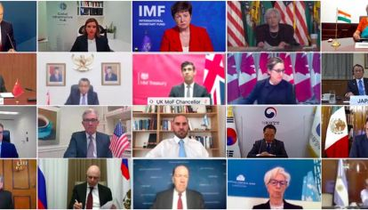 Guzmán participó en la primera reunión virtual de ministros de Finanzas y presidentes de bancos centrales, en el marco de la presidencia italiana del G-20.