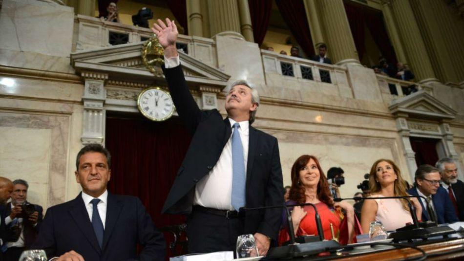 Alberto Fernández en la inauguración de las sesiones ordinarias en el Congreso del 2020.