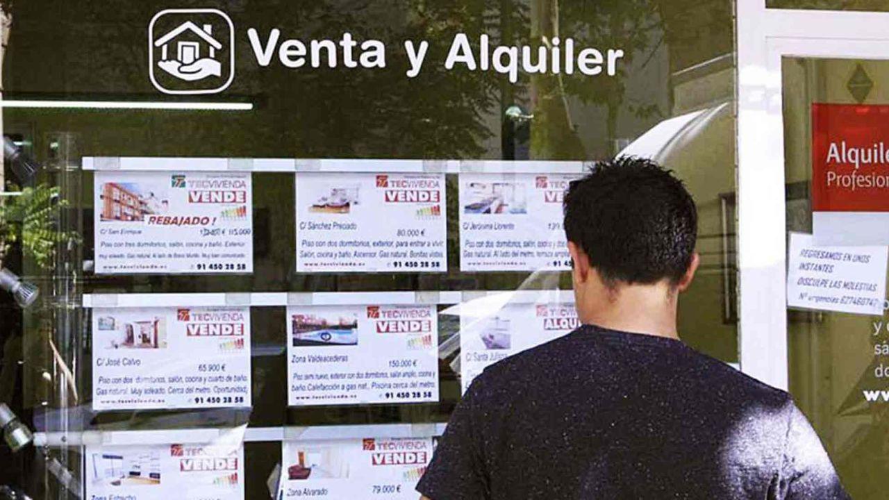 Alquileres: vidriera de inmobiliaria | Foto:cedoc