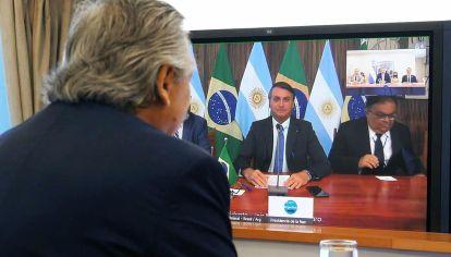 Virtualidad. La primera bilateral entre ambos fue por videoconferencia, en noviembre pasado.