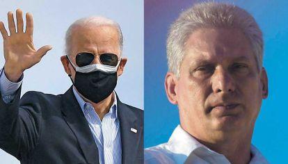 Líderes. El cubano Miguel Díaz-Canel y el estadounidense Joe Biden. Hay cambios en la isla, pero sin que se modifique el férreo control de toda oposición.