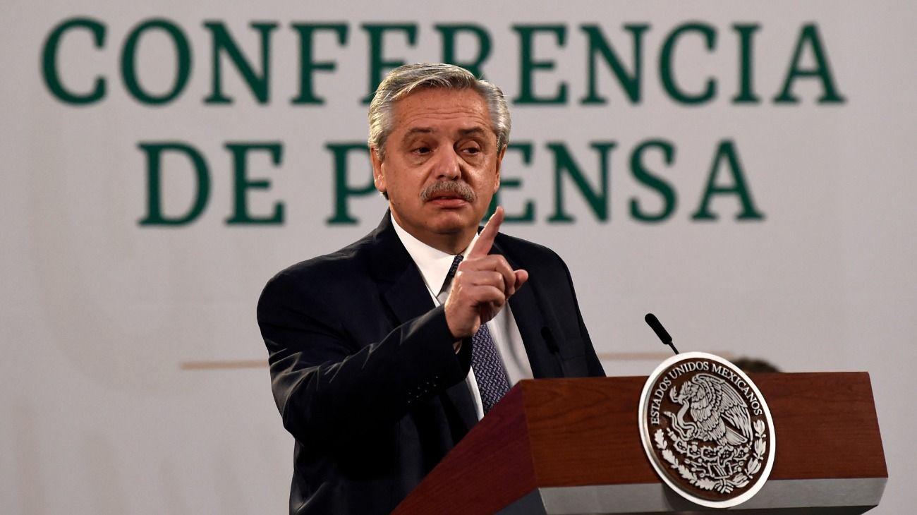 Alberto Fernández celebró el regreso del Fútbol para Todos a la pantalla de la TV Pública. //AFP