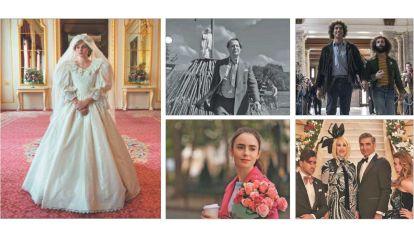 """Disputa. """"The Crown"""" es la serie preferida. A la hora de las películas, las grandes candidatas son """"Mank"""" y """"El juicio de los 7 de Chicago"""". Las comedias """"Emily in Paris"""" y la gran """"Schitt's Creek""""."""