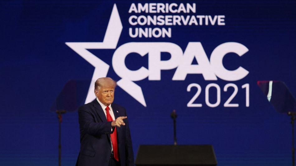 Donald Trump reapareció durante un acto conservador en Florida