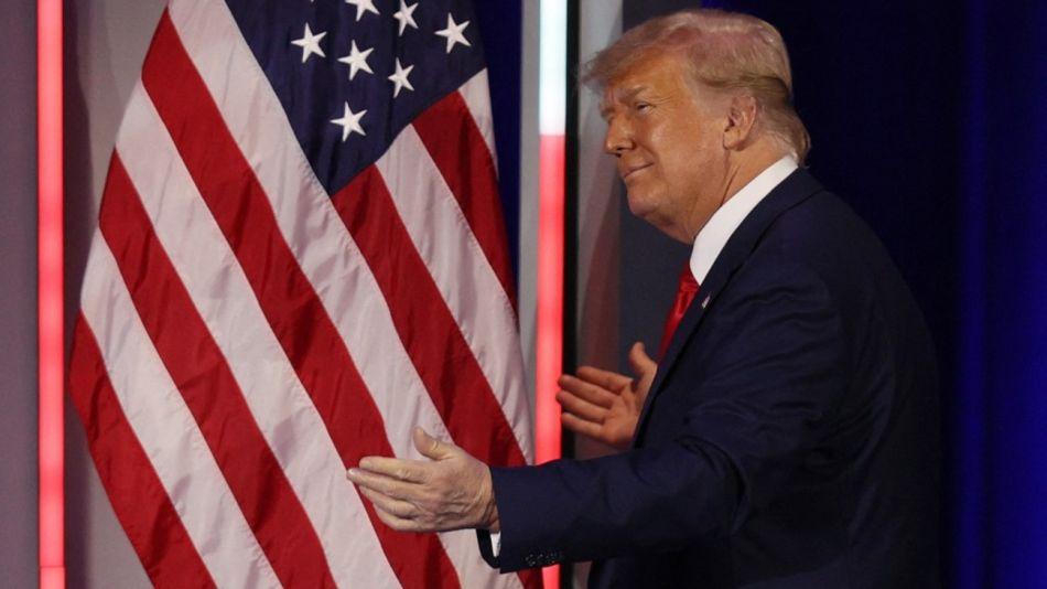 Donald Trump volvió a dar un discurso tras dejar la presidencia