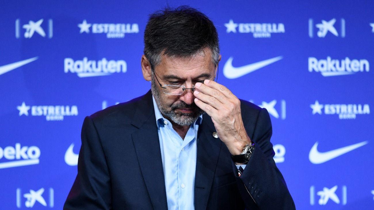 """Josep Maria Bartomeu fue detenido por el """"BarcaGate"""". //AFP"""