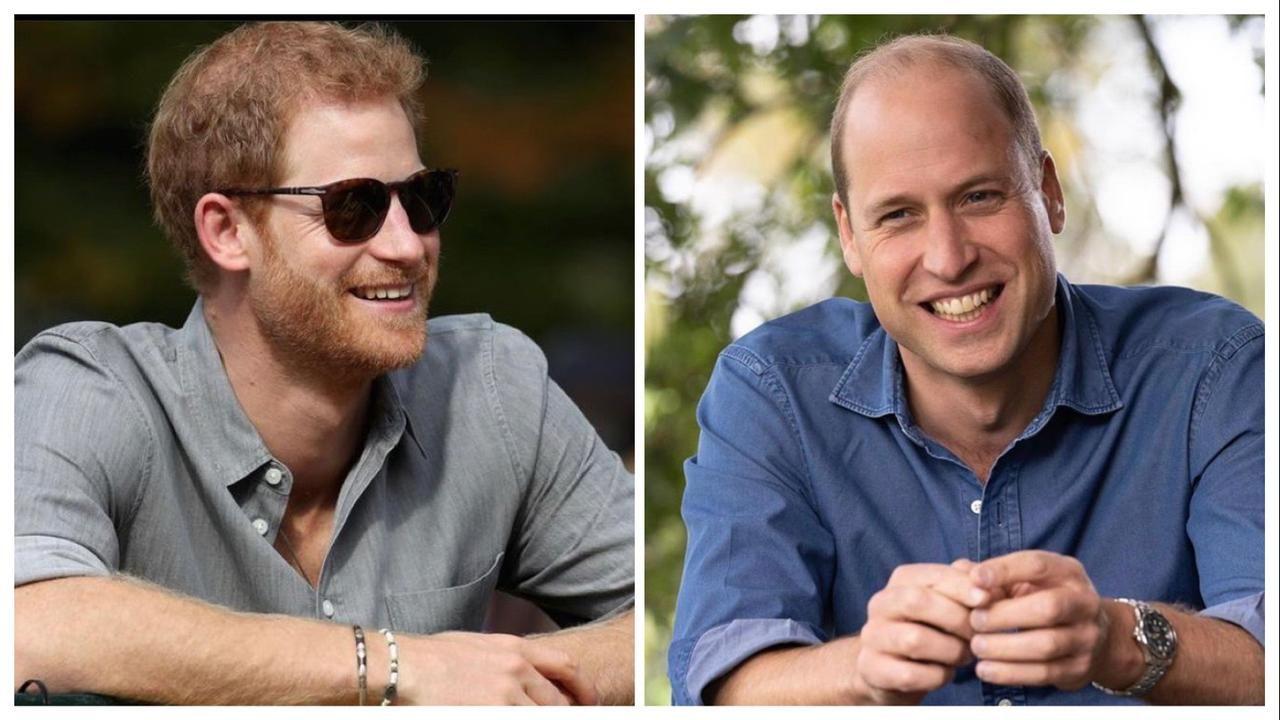 Los príncipes Harry y William