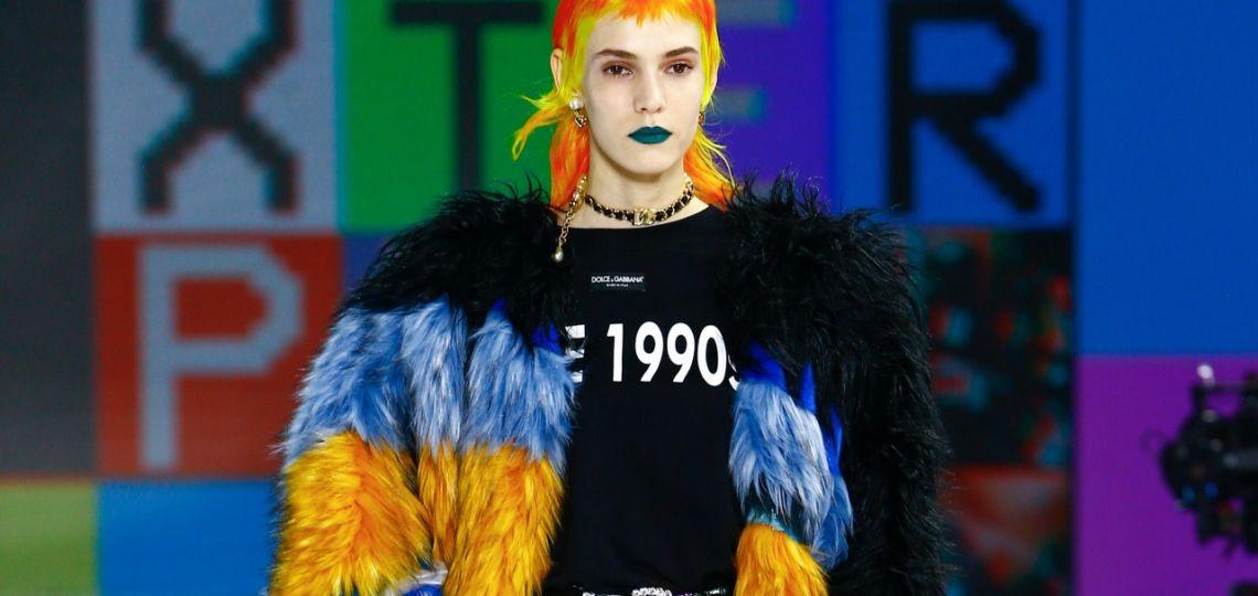 Dolce & Gabbana deslumbró a puro color y fiesta en Milán