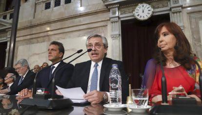 En su discurso en el Congreso, Alberto Fernández habló de la negociación con el FMI.